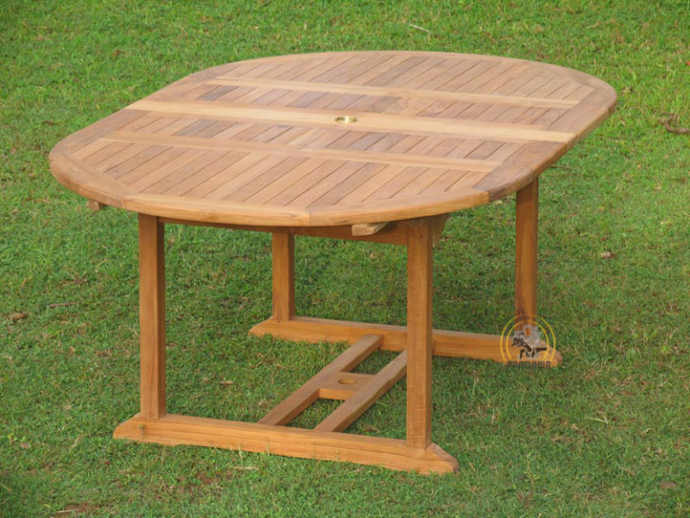 OVAL DOUBLE EXTEND TABLE 120 CM