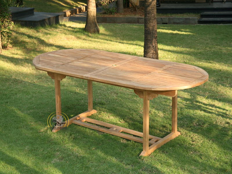 OVAL DOUBLE EXTEND TABLE 150 CM