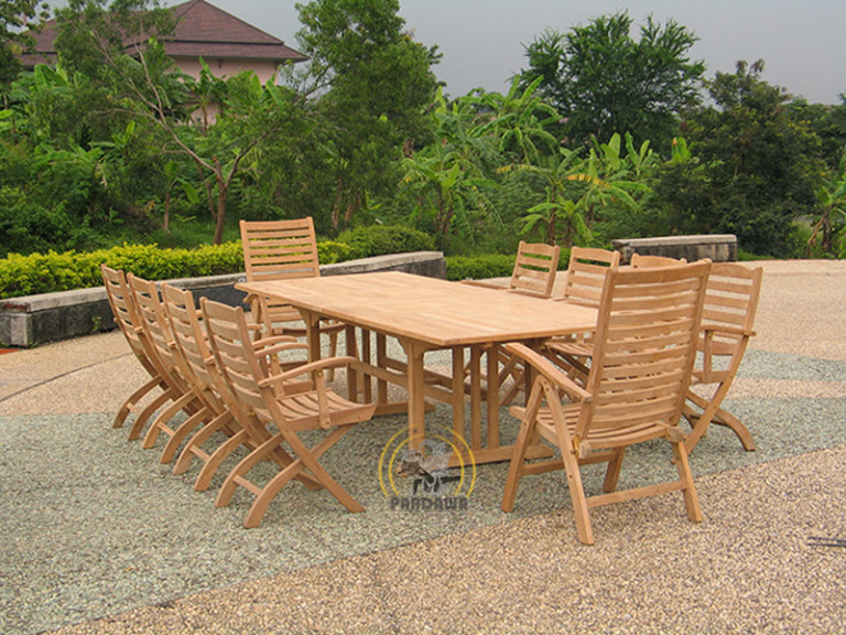 RINJANI RECLINING SET-RECTA DOUBLE EXTEND TABLE