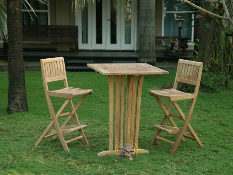 TORAJA FOLDING BAR SET-SQUARE BAR TABLE 90 CM