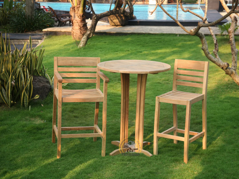VALENCIA BAR SET-ROUND BAR TABLE 90 CM