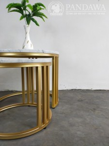 Coffe Table Top Marmer Industrial Gold PF-IDF 001 IMG3